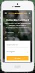 iPhone mit GoldenMomentCard Webseite