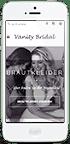 iPhone mit Vanity Bridal Webseite