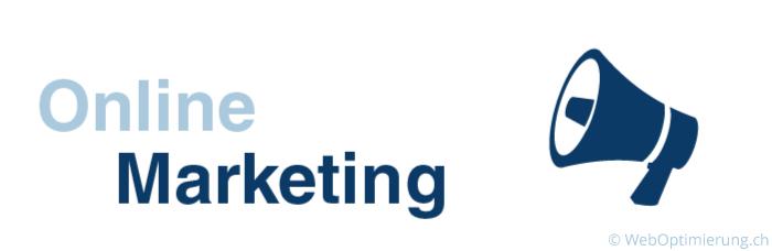 Grafik mit dem Schriftzug Online Marketing